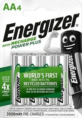 Piles AA ENERGIZER rechargeables accu Power Plus HR6 2000 mAh * PRIX DEGRESSIF *