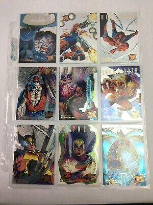1995 Fleer Ultra X-Men SILVER Hunters And Stalkers Set Walmart