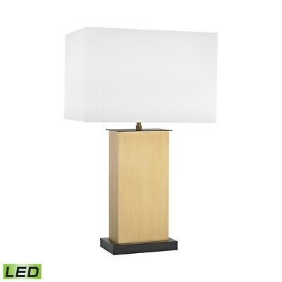 Dimond Lighting Summit Drive LED Table Lamp, Antique Brass - D3113-LED