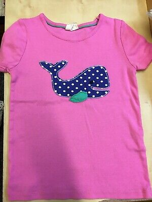 Mini Boden Pink Whale T-Shirt Age 5-6 Years