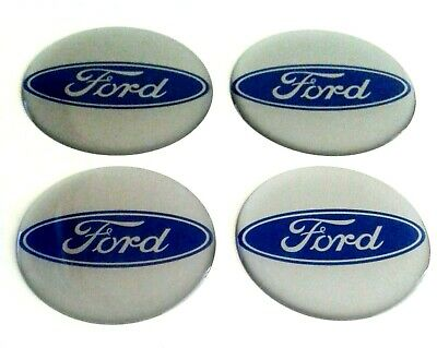 FORD Wheel Center Hub Caps Silicone Badge Emblem Stickers 4x60mm