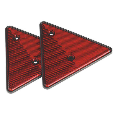 Rear Reflective Red Triangle Pack of 2 SEALEY TB17 by Sealey
