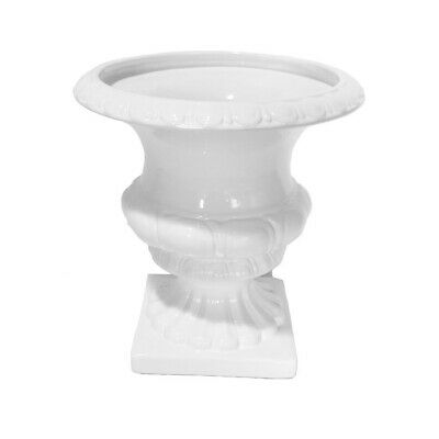 "Sagebrook Home Decorative Ceramic Footed Urn, 12"", White - 13571-02"