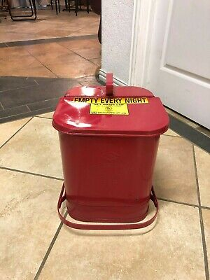 Vintage Protectoseal 1401 Oily waste Can 6 Gallons Metal Container