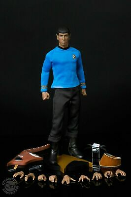 Star Trek TOS Spock 1/6 Scale Figure w/ Lute MIB Qmx Master Series Exclusive