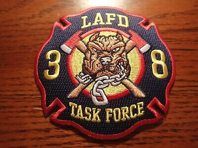 """LAFD Station 8 New Design Patch /""""Porter Ranch/"""" NEW MAY 2019 CALI FIRE PATCH"""