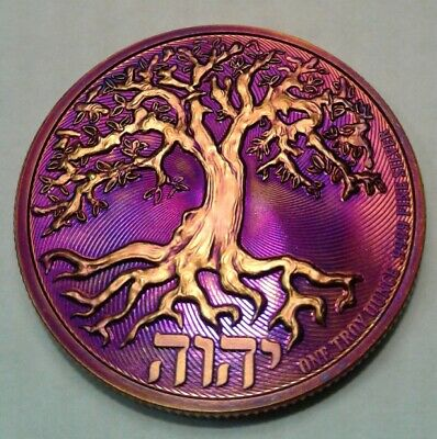 2019 Niue Tree of Life $2 1 oz. Silver coin with beautiful toning ,toned