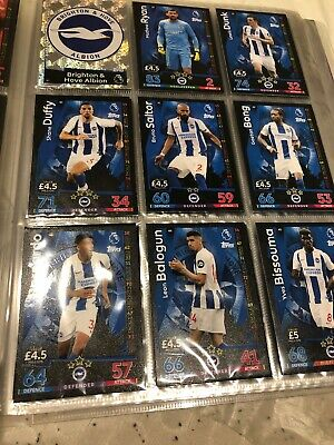 MATCH ATTAX 18 19 Brighton & Hove FULL COMPLETE BASE CARD TEAM SETS 18 CARDS