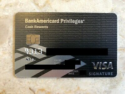 Bank Americard Privileges VISA Card