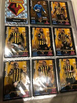 MATCH ATTAX 18 19 Watford FULL COMPLETE BASE CARD TEAM SETS 18 CARDS