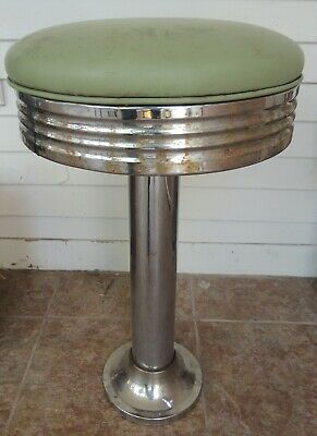 Vintage Ice Cream Counter /  Diner / Parlor Soda Fountain Stool Deco Style