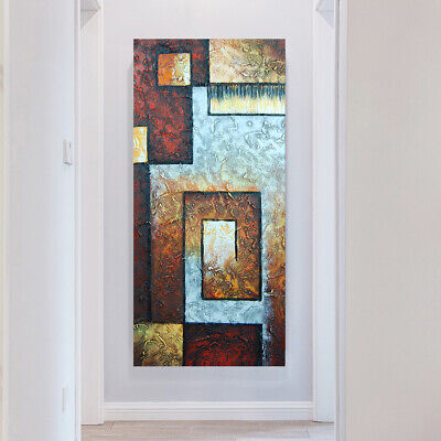 Hand Painted Modern Abstract Oil Painting Canvas Wall Art Home Decor Framed