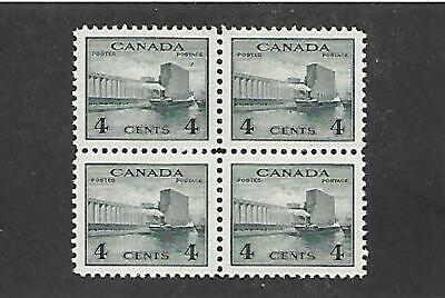 Canada Stamps #253 Block Of 4 (Nh) From 1942-43