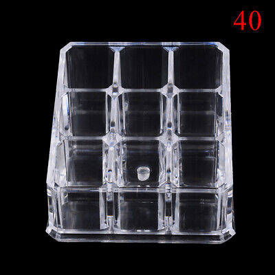 9 Holes Acrylic Cosmetic Organizer Makeup Drawer Holder Clear Storage OZ