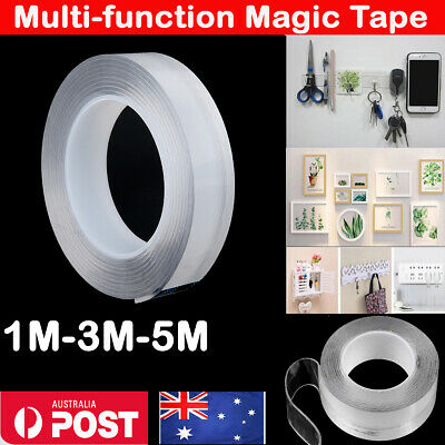Multi-Function Magic Tape Reusable Transparent Grip Tape Double Sided Craft %N