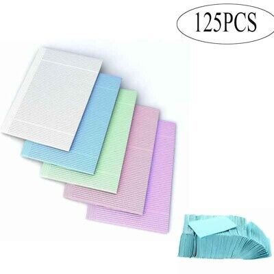 125pcs Disposable Dental Tattoo Medical Towel Patient Pad 2 Paper Tissue+ 1 Poly