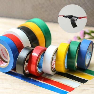 1PC Pvc Electrical Insulation Insulating Tape Flame Retardant Rolls Colorful NEW