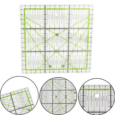 15*15cm Transparent Clear Quilting Sewing Patchworks Rulers Cutting Tool TailSC