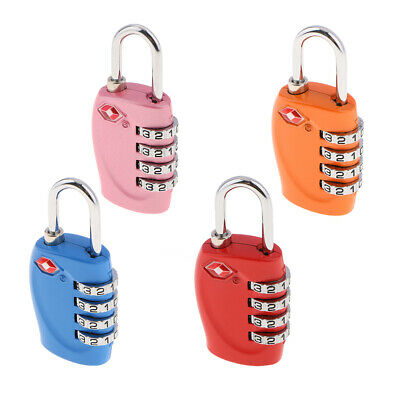 4x TSA Approved Luggage Travel Suitcase Bag Lock 4 Digit Combination Padlock