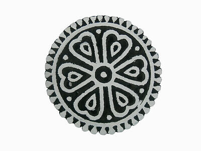 Round Shaped Exclusive Design Large Big Textile Old Wooden Printing Block