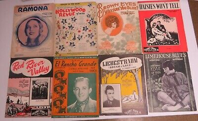 SHEET MUSIC LOT OF Antique Sheet Music 1920's 30's & Later