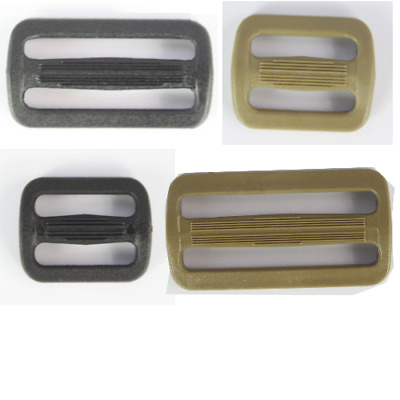 Tri-Glide Slider Buckles Black Tan Plastic Loops Rucksacks Replacement All Sizes