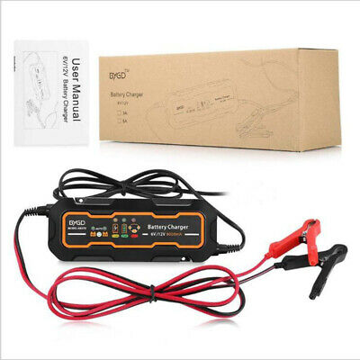 12V Automatic Smart Battery 3 Step Charger Maintainer Trickle Lead acid Black UK