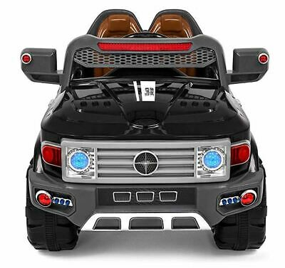 Kids Police Ride On Car 12V Electric SUV With 2 Speeds Remote 2 Seats Lights AUX