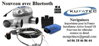 Soundbooster Active Sound Maxhaust Kufatec Bluetooth Tuning toutes marques