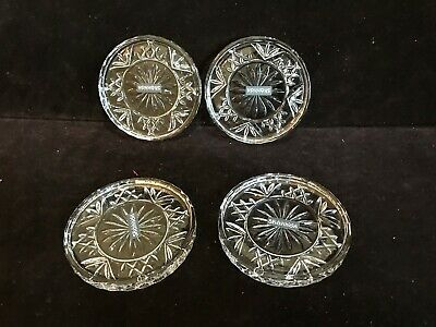 4~Dublin Collection Shannon by Godinger Crystal Glass Coasters~NEW In Box~25987