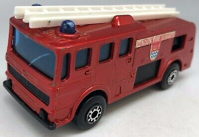Matchbox Superfast No 35 Merryweather Fire Engine - Customised Model