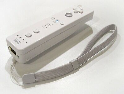 Official Genuine Nintendo Wii Controller Remote in White + Wrist Strap