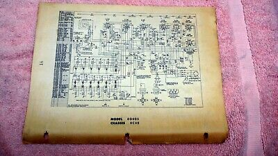 Zenith Radio Models 8G005 Chassis 8C40  Service Instructions