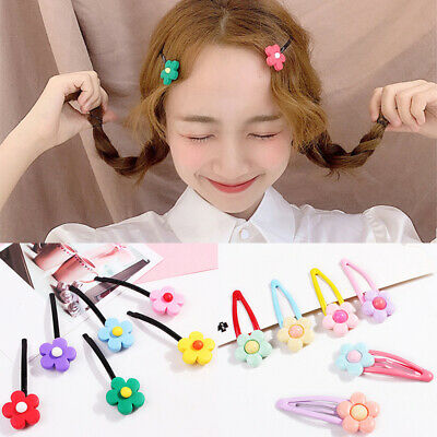 Candy Color Flower Assorted Kids Girls Hairpin Hair Clip Sweet Hair Accessories
