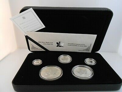 CANADA - (5) Coin Silver Maple Leaf Set  2004 - Reverse Proof - RCM Privy Mark