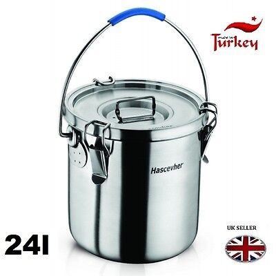 24 Ltr Stainless Steel 18/10 Food Storage Container Fermenter