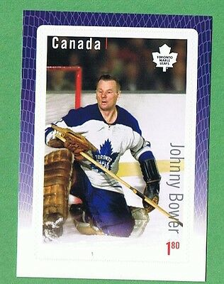 2015 Canada Great Canadian Goalie  Johnny Bower Of The Toronto Maple Leafs Stamp