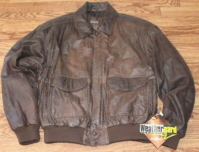 ce0d168a1 VINTAGE BROWN LEATHER Adventure Bound Bomber Jacket Lined Map Coat ...