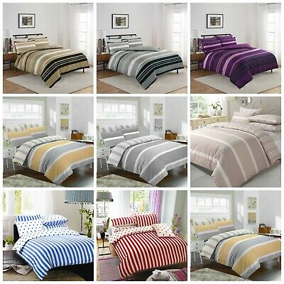 Luxury Duvet Quilt Cover With Pillowcases Bedding Set Single, Double King S/King