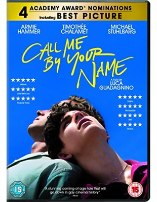 Call Me By Your Name (UK IMPORT) DVD [REGION 2] NEW