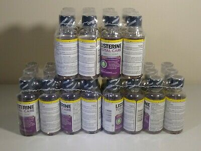 12 Pack Listerine Mouthwash Total Care Fresh Mint Anticavity Travel Size 3.2oz