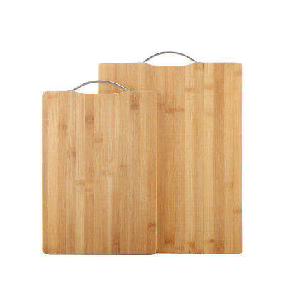 Large Bamboo Chopping Board for Kitchen Serving Cutting Boards Set Wooden Wood
