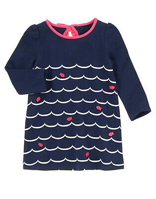 NWT Gymboree Stripes and Anchor Fish Dress 2T Toddler Girl