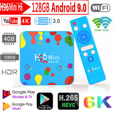 H96 Max Mini H6 6K H.265 TV Box Android 9.0 4GB+128GB Quad Core WiFi Set Top Box