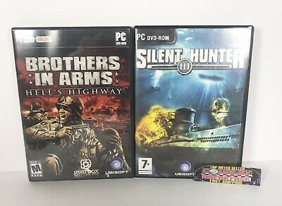 Silent Hunter III Brothers In Arms PC Video Game Lot of 2 - Very Good Condition