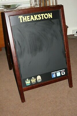 A1 wooden A Frame pavement adverstising board -  advertising Theakstons