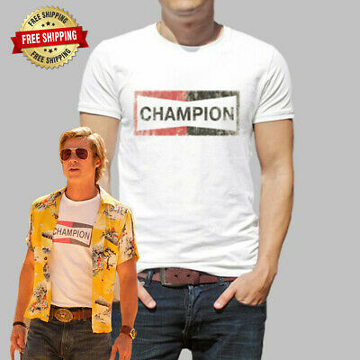 Champion T-Shirt New Once Upon a Time in Hollywood Champion Brad Pitt 2019 Tee