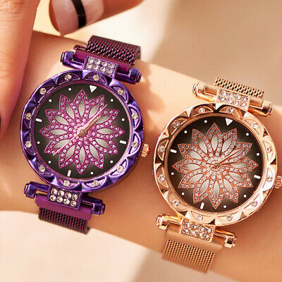 Starry Sky Watch Magnetic Milanese Loop Band Quartz Diamond Watches Women New
