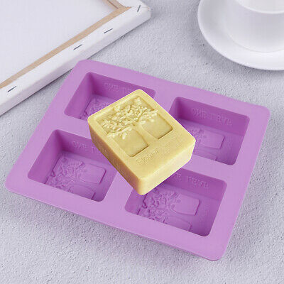 4-Cavity Tree Silicone Mold Cake Soap Mould Cookie Chocolate Mold DIY BakinSC