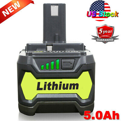 5.0Ah 18V Lithium Battery for Ryobi ONE+ Plus RB18L40 P108 P107 P105 P104 P109